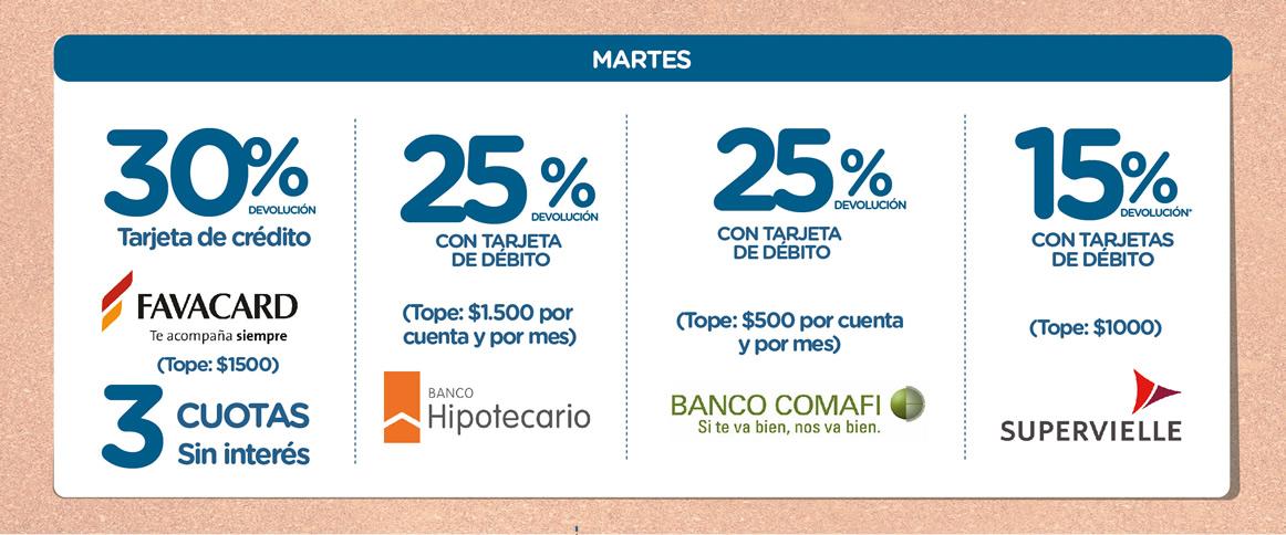 AGENDA DE OFERTAS 2020 TOLEDO OK MARTES-18